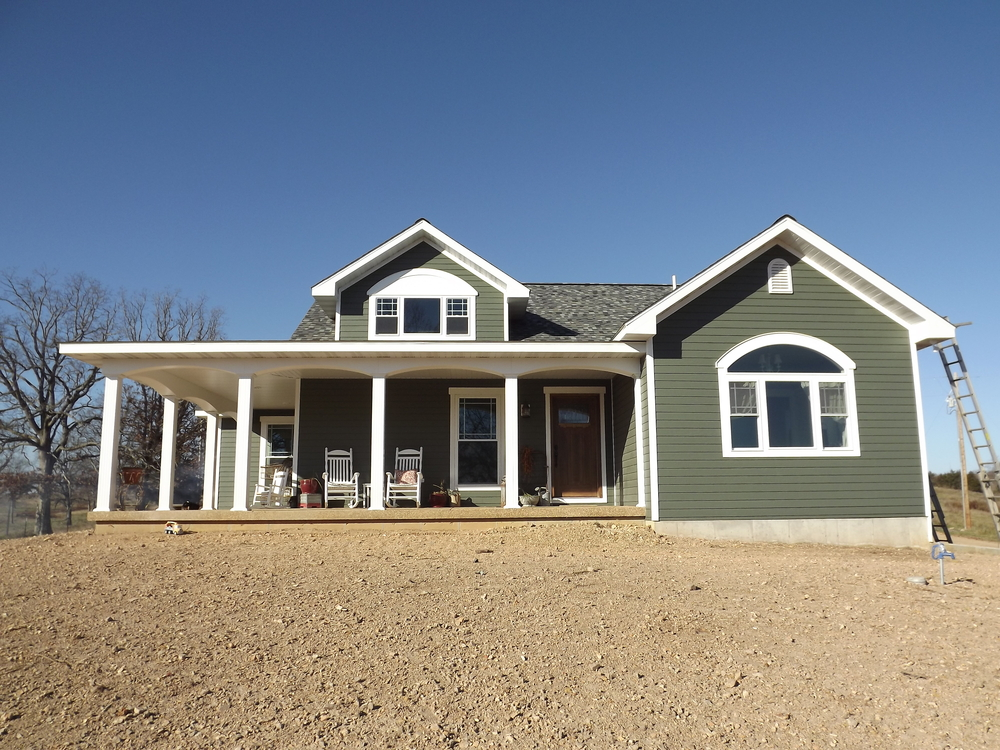 Custom Home with front porch