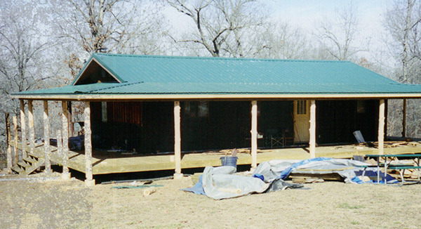 Metal roofing and covered porch